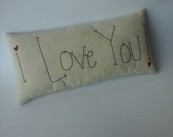 I love you pillow MADE TO ORDER