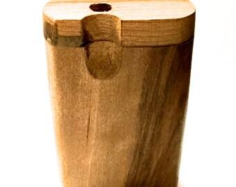 Handmade Oak Wooden Dugout with Bat and Poker