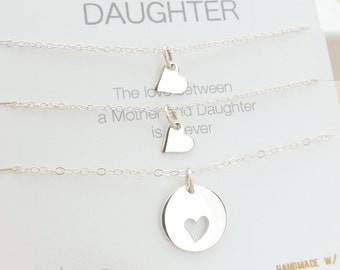 Mother Daughter Necklace - Mother Daughter Jewelry - Mother Daughter Gift - Delicate Necklace - Sterling Silver Jewelry - Two Daughters
