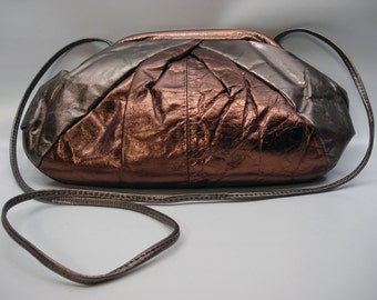 Glam evening bag with long strap - convertible to clutch
