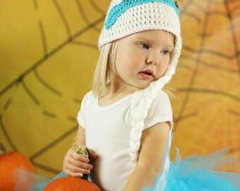 Snowflake princess hat and tutu set, crochet snowflake princess hat, snowflake princess tutu