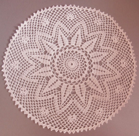 White crochet doily round lace doily 10 inches home decor for Lace home decor