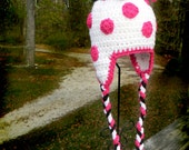 Modern Minnie Polka Dot Hat for Infant and Toddler Girls