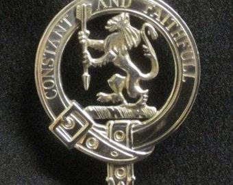 MacQueen Scottish Clan Crest Badge