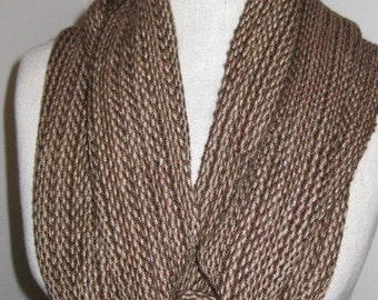 Brown Alpaca sparkle scarf