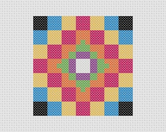 Cross Stitch Pattern PDF Quilt Block Sampler Easy Beginner