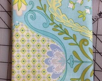1 yard Dena Designs - Little Azalea  - Hyacinth in Aqua- PWDF174