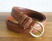 Vintage Coach Leather Belt-British Tan-Women's Size Large