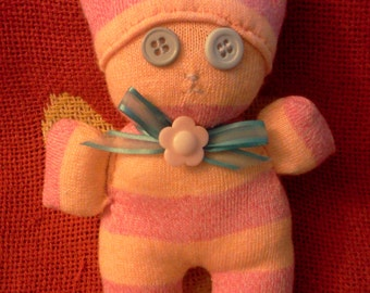 Sock doll with bow