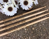 HUGE SALE 1 Pair Personalized Custom Engraved 16 Inch Wood Drumsticks 5A or 2B