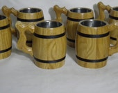 5 Personalized groomsman gifts, Wooden Beer mug, 0,33 l,Personalized wedding gift,groomsmen gift,father gift, castom engraving, rustic, n24