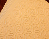 SALE Embossed card set, set of eight embossed circles and dots cards in cream, clearance