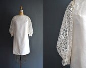 Poppy / 60s short wedding dress / lace dress