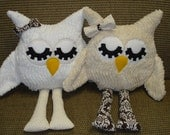 Pair of Chenille Owls for Melanie Gibson