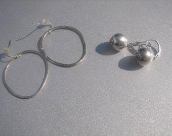 12mm Sterling Ball Dangle Earring with Bonus Ring Dangles 765.