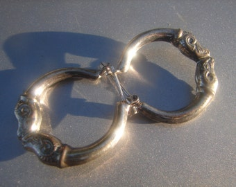 Ram Sterling Hoop Earrings 838.