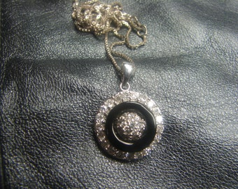 CZ Pendant In Sterling Silver on 925 Box Chain 888.