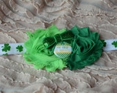 My First St Patrick's Day Headband, Shamrock Headband, Green Headband, St. Patty's, Leprechaun Headband, Newborn Baby Headband