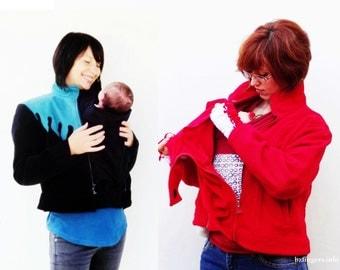 BabyWearing Fleece Insert. Babywearing Jacket Extension Panel.