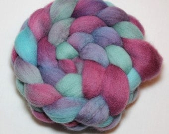 Handpainted Roving - Mermaid - Falkland Wool, 4 Ounces