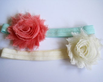 Set of 2 Baby Headband, Baby Girl Headbands, Infant Headbands, Easter Headbands, Girl Headbands, Toddler Headbands, Baby Bow