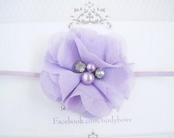 Petite Lavender Baby Headband, Baby Headbands, Valentines Headbands, Baby Girl Headbands, Infant Headbands, Baby Bows