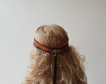 Aztec Hippie Boho Headband, Hair Accessory, Hippie Headband, For Women, Women Accessories, Gift Ideas