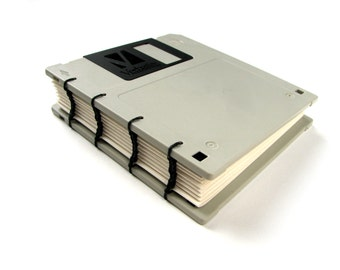 Recycled Floppy Disk Notebook