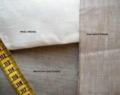 Custom order. Bolster Neckroll Pillow Case Cover Slipcover. Pure flax linen,  Natural Linen gray color.