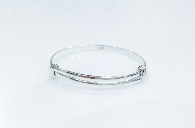 sterling silver baby bracelet adjustable baby by ajantadesigns