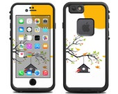 Skins FOR the Lifeproof iPhone 6 Case (Lifeproof Case NOT included) - Bird house in a spring tree at sunrise birdhouse - Free Shipping