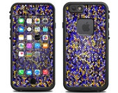 Skins FOR the Lifeproof iPhone 6 Case (Lifeproof Case NOT included) - Blue Stained Glass mosaic design - Free Shipping