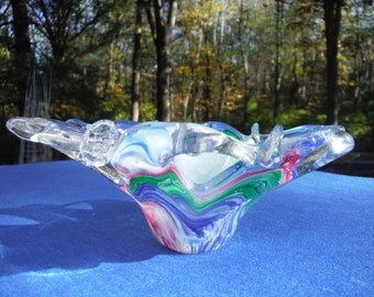 Murano Crystal Clear trinket dish