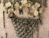 ChainMaille, Quartz and Crucifix Necklace