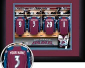PERSONALIZED & FRAMED NHL Colorado Avalanche Sports Print