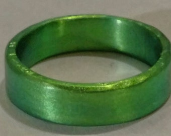 Anodized Niobium Ring Band green