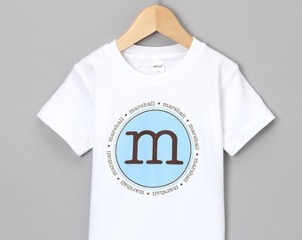 Personalized Name Initial or Birthday Number Kids Childrens T Shirt Girls Boys Tee Baby Onesie High Quality Shirt