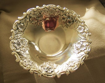 SALE  Very ornate silver plate dish