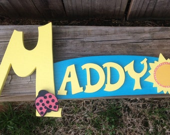 Name Sign Personalized Wall Plaque Sign Any Colors or Theme Baby Nursery, Kids Room