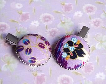 Japan head piece, Geisha headpiece, Asian hairstyle, hair clip, best gifts for her, purple hair piece, asian hair clips