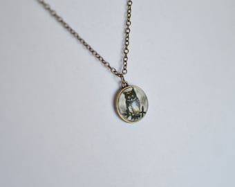 Owl Silhouette Necklace