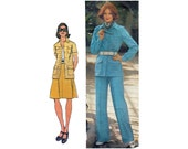 "1970's Simplicity 5588 Retro Woman's Shirt-Jacket, Skirt, Pants Size 16 || Bust 38""/ 97cm 