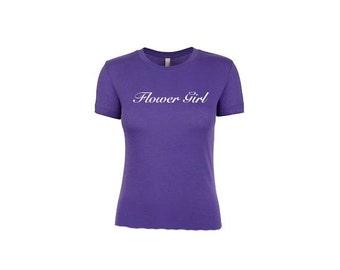 Flower Girl TShirt. Will You Be My Flower Girl. Flowergirl Shirt. Crewneck TShirt. Wedding Gifts. Bachelorette Shirts.  Wedding Tank Tops