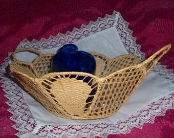 Antique/ Vintage Basket  Rare..Beatiful ,Lace Like