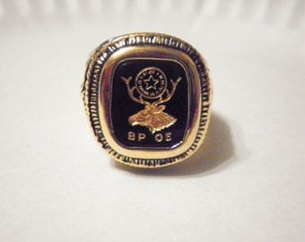 1 Goldplated Benevelent and Protective Order of Elks Ring
