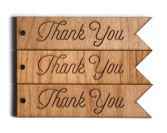 Thank You Gift Tags — Wedding Gift Tags, Thank You Tags, Wood Gift Tags