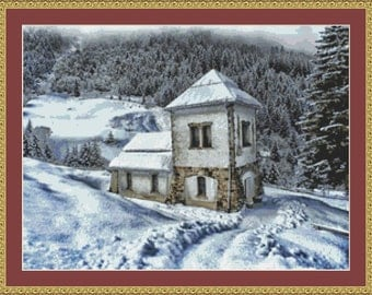 House In The Snow Cross Stitch Pattern