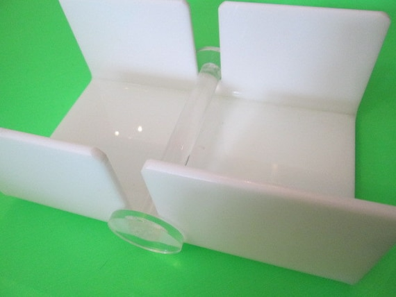 Mod napkin holder tissue holder desk accessory note by for Bathroom napkin holder