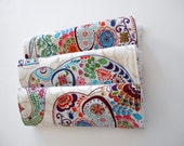 Baby Burp Cloth Elephants Set of 3 Valori Wells Karavan--Made to Order