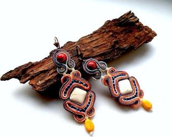 Sweet Honey - soutache earrings